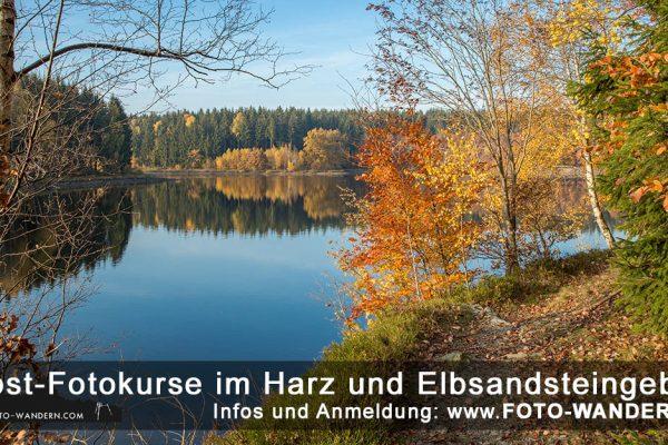 Herbst-Fotokurse im Harz und Elbsandsteingebirge