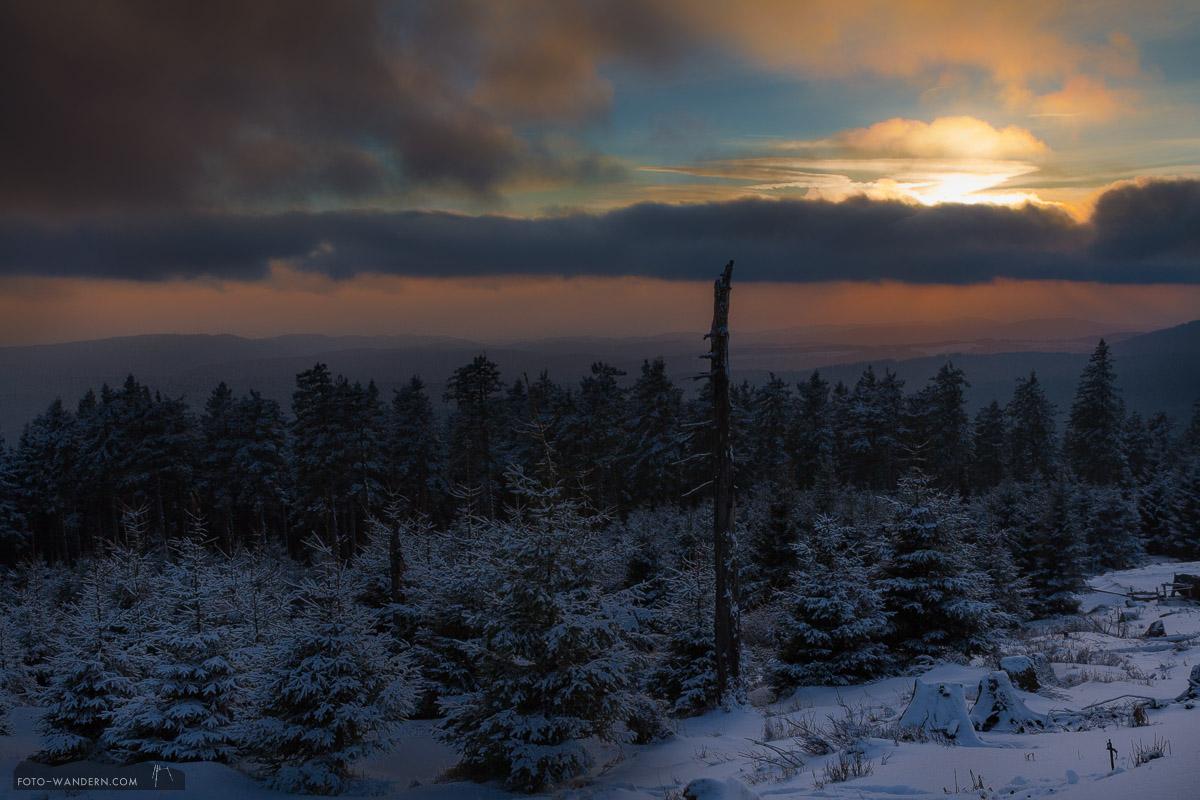 Sonnenuntergang auf dem Wurmberg