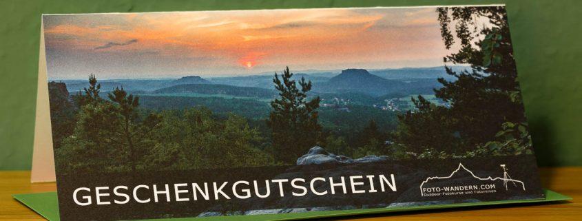 Geschenkgutschein für Fotowanderungen, Fotokurse und Fotoreisen