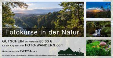Geschenk-Gutschein für Fotokurse zum downloaden