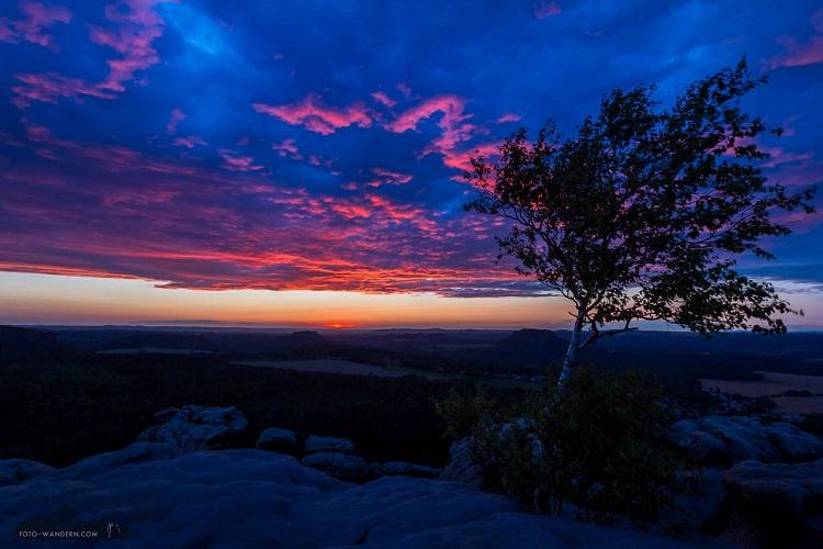 Sonnenuntergang auf dem Gohrischstein © Andreas Levi - Foto-Wandern.com