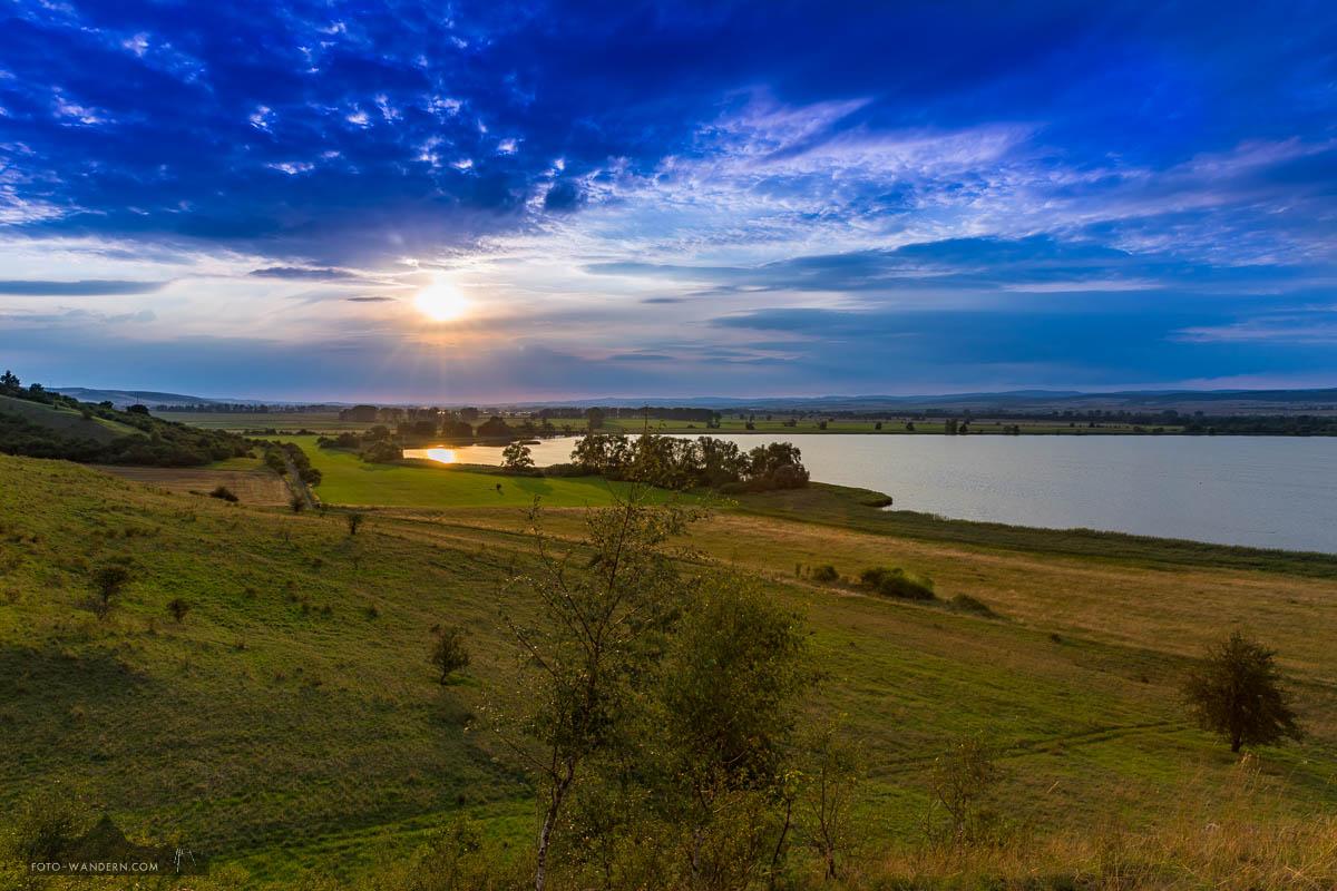 Sonnenuntergang an der Osterkippe - Stausee Kelbra
