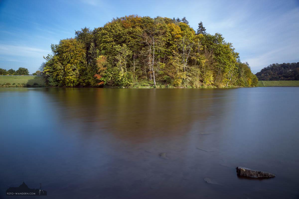 Iberg-Talsperre im Herbst