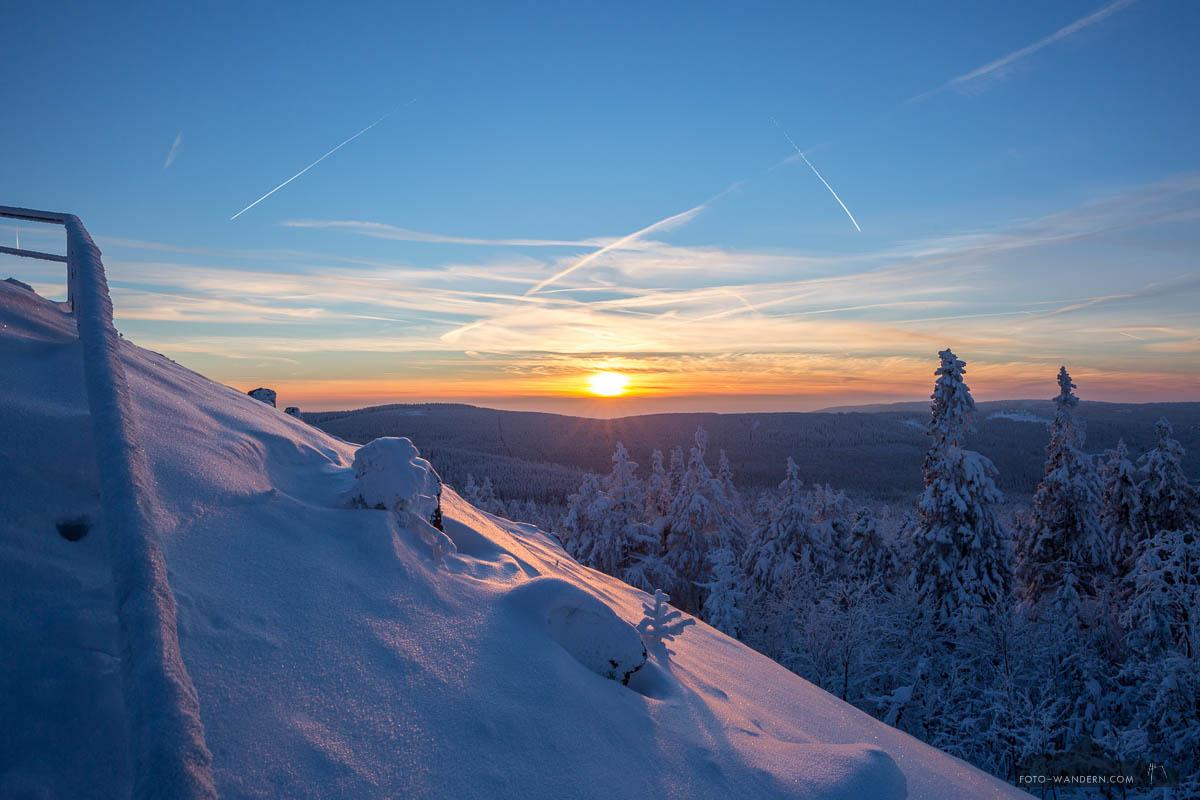 Sonnenuntergang an der Achtermannshöhe , Harz