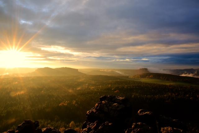 Magische Momenten beim Fotokurs Landschaftsfotografie in der Sächsischen Schweiz mit Foto-Wandern.com © Mario Bussmann