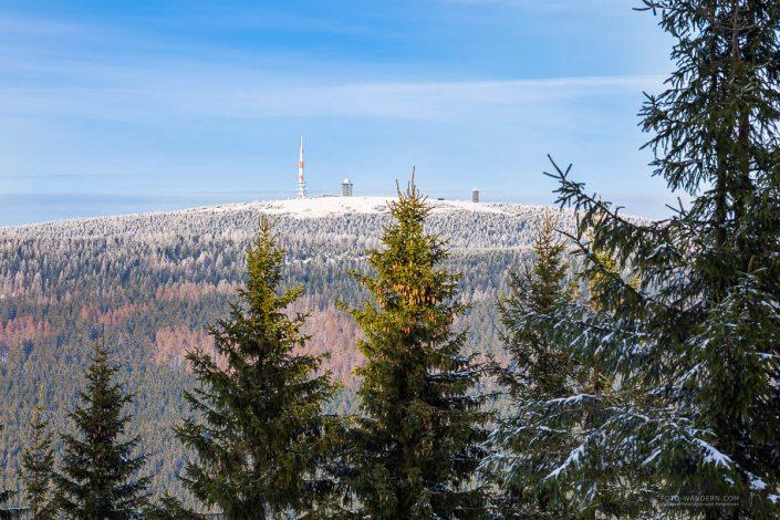 Fotokurs Landschaftsfotografie im Winter auf dem Wurmberg bei Braunlage im Harz - Brockenblick