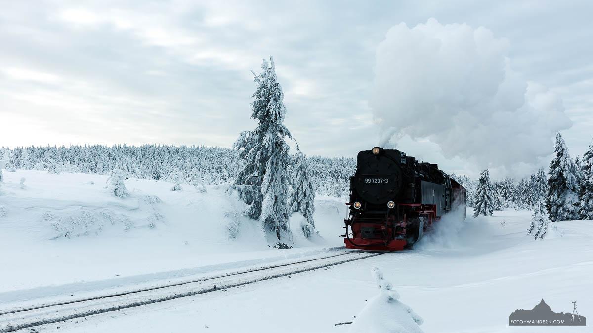 Fotokurs Landschaftsfotografie- Sonnenaufgang im Winter auf dem Brocken im Harz