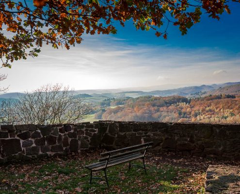 Fotokurs-Wanderwoche im Harz - Herbst 2017 - Blick von der Burgruine Hohnstein