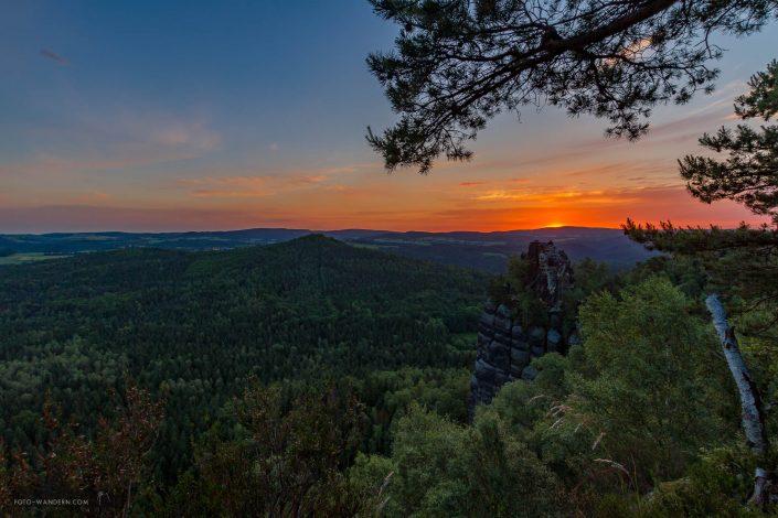 Fotoreise Sächsische Schweiz - kurz vor dem Sonnenaufgang