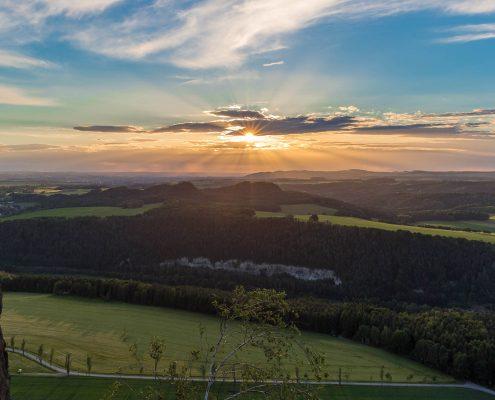 Fotoreise Sächsische Schweiz - kurz vor dem Sonnenuntergang auf dem Lilienstein