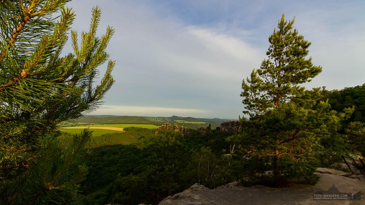 Fotoreise Sächsische Schweiz - morgens auf dem Malerweg - Schrammsteine
