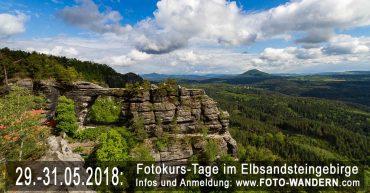 Fotokurs-Tage im Elbsandsteingebirge Mai 2018