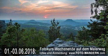Fotokurs-Wochenende auf dem Malerweg Juni 2018