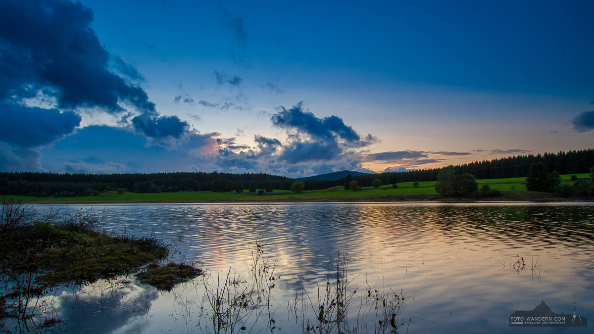 Fotokurs zum Sonnenuntergang Talsperre Mandelholz, Harz