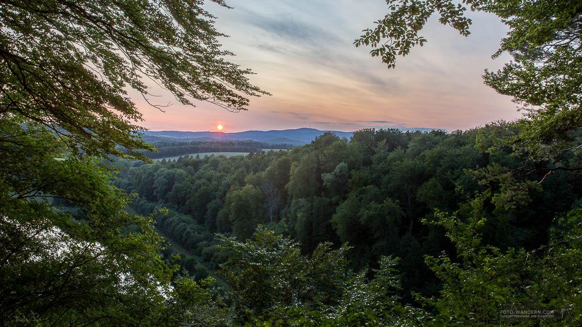 Sonnenuntergang auf dem Himmelreich im Südharz