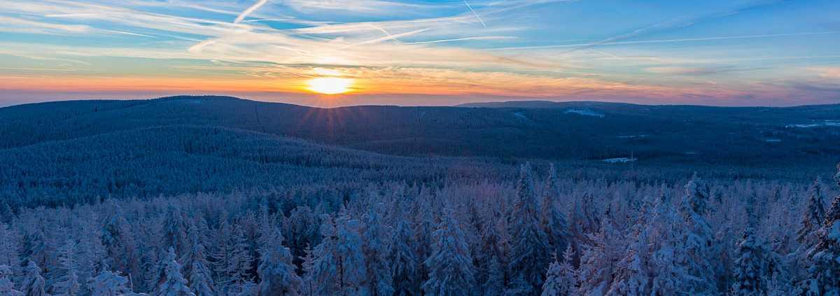 Sonnenuntergang am Achtermann