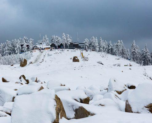 Der Harzer Wurmberggipfel im Winter