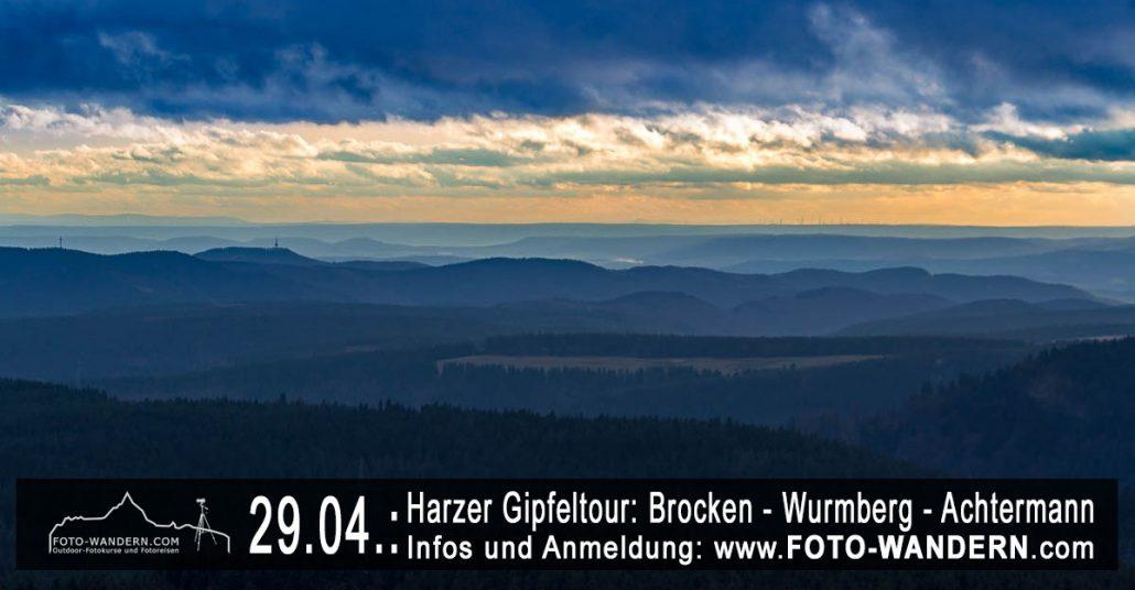 Harzer Gipfeltour: Brocken - Wurmberg - Achtermannshöhe