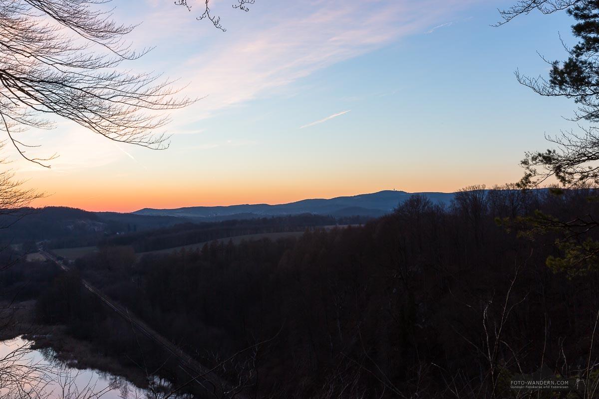 Sonnenuntergang mit Blick zum Ravensberg