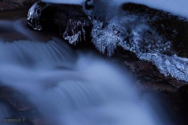 Langzeitbelichtung im Winter im Harz