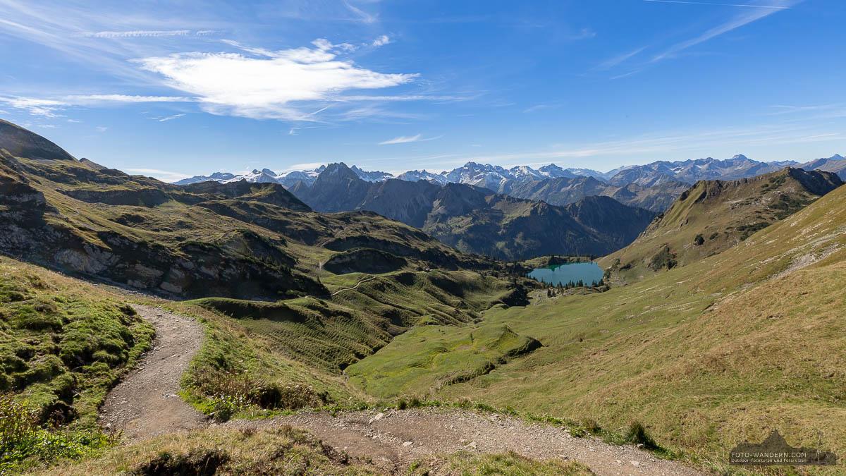 Zeigersattel auf dem Nebelhorn, Seealpsee