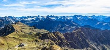 Bergpanorama Allgäuer Alpen