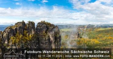 Fotokurs Wanderwoche Sächsische Schweiz Herbst 2020