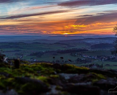 Fotokurs zum Sonnenuntergang auf der Burgruine Hohnstein