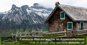 Fotokurs Wanderwoche Appenzellerland 2020