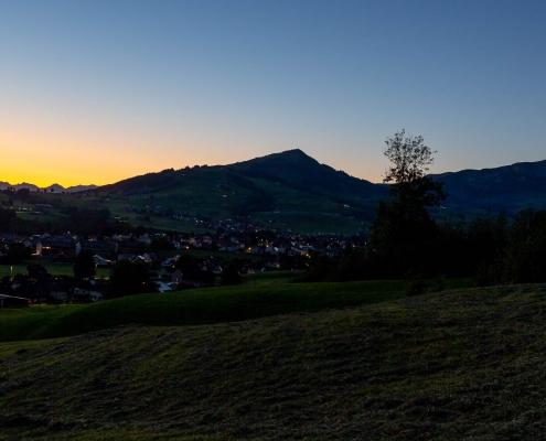 Sonnenaufgang im Appenzellerland