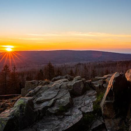 Sonnenuntergang auf dem Achtermann