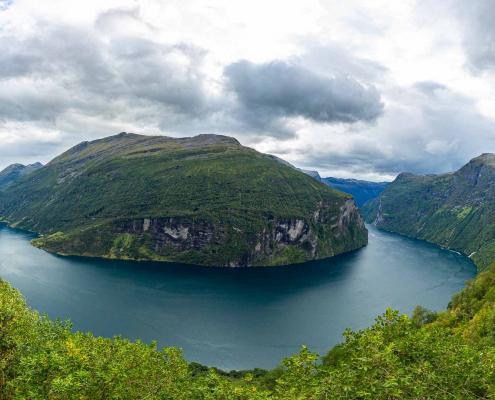 Panorama Geirangerfjord, Norwegen